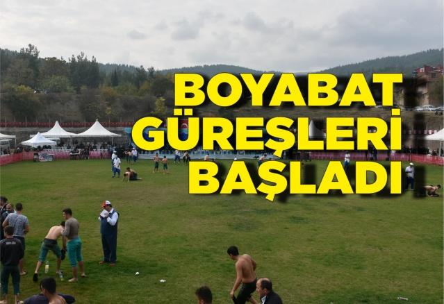 Boyabat Yağlı Pehlivan Güreşleri Başladı  Boyabat Belediyesinin düzenlediği Türkiye'de Karadeniz Bölgesinin en büyük güreş organizasyonu ve Kırkpınar Güreşlerinin rövanşı olarak kabul edilen Boyabat Yağlı Pehlivan Güreşleri başladı.