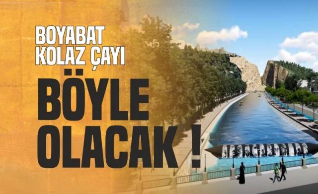 Boyabat Ak Parti Belediye Başkanı Şefik Çakıcı yeni dönemde Boyabat Kolaz Çayı Islah Projesini gerçekleştireceklerini açıklamıştı.Bu bölgede gondollar ve jetskiler ile gezileceğini ifade eden Çakıcı proje aşamasında olduğunu söylemişti.  İşte O projenin detayları ortaya çıktı..