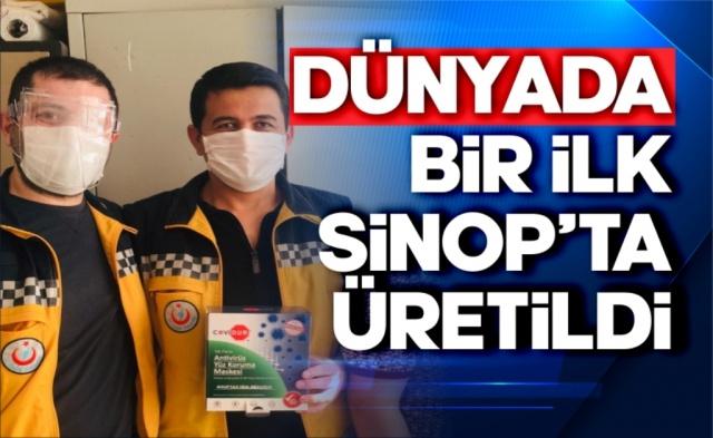 Sinop'ta faaliyet gösteren bir fabrika yüzün tamamını koruyan maske üretimi yapmaya başladı.