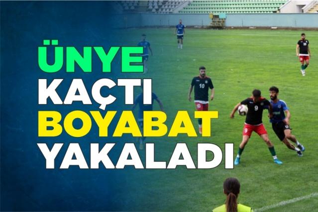 Ünye Attı Boyabat Yakaladı  Sinop Amatör Küme'de namağlup şampiyon olan ve Sinop'u BAL Liginde ve Türkiye Kupasında temsil edecek Boyabat 1868 Spor ilk hazırlık maçını Ünye 1957 Spor ile oynadı.