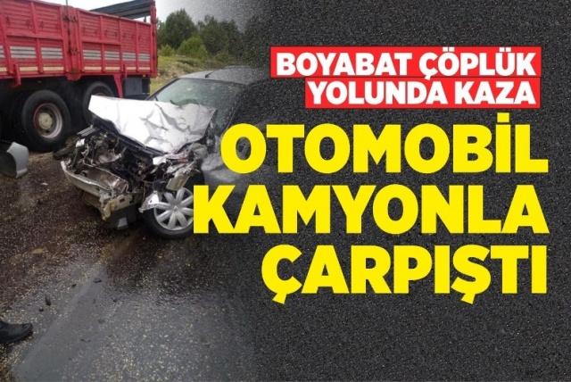 Boyabat Çöplük Yolunda Trafik Kazası   20.06.2019 Perşembe günü Boyabat'ta trafik kazası meydana geldi.