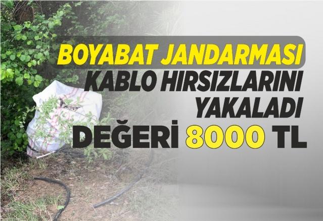 Kablo Hırsızları Boyabat Jandarması Tarafından Yakalandı   11 Mayıs 2019 günü Sinop İl Merkezinde bulunan bir inşaattan elektrik kablosu çaldıkları iddia edilen 3 kişi Boyabat Jandarma Ekipleri tarafından yakalandı.