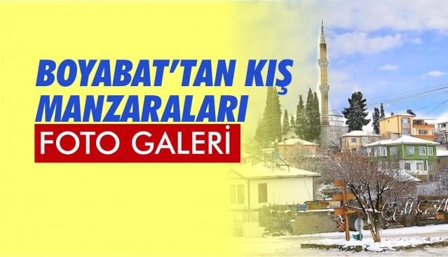 Boyabat'ta 09 Şubat Pazar günü kar yağışı güzel manzaralar oluşturdu.  Fotoğraflar : Mehmet Aktaş ,Mahmut Çoşkun