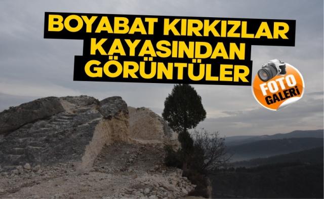 Boyabat Sesi Gazetesi olarak Kırk Kızlar Kayalıklarına giderek izleyicilerimiz için 9 Ocak 2021 Cumartesi günü inşaatın son durumunu görüntüledik.