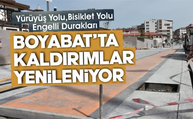 Sinop'un Boyabat İlçesi'nde yaya kaldırımı ve yürüyüş yolu çalışmaları başladı.Boyabat Belediyesi ekipleri tarafından çalışmalar tüm hızıyla devam ediyor.