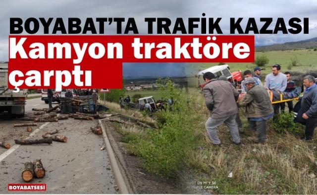 07.05.2020 Perşembe günü Boyabat Sinop yolu Boyabat Organize Sanayi  mevkiinde trafik kazası meydana geldi.