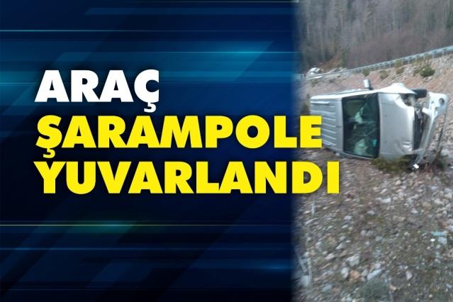 Boyabat Kargı Yolu'nda araç şarampole uçtu  05.03.2020 Perşembe günü Boyabat Kargı Yolu'nda meydana gelen trafik kazasında otomobil şarampole uçtu.