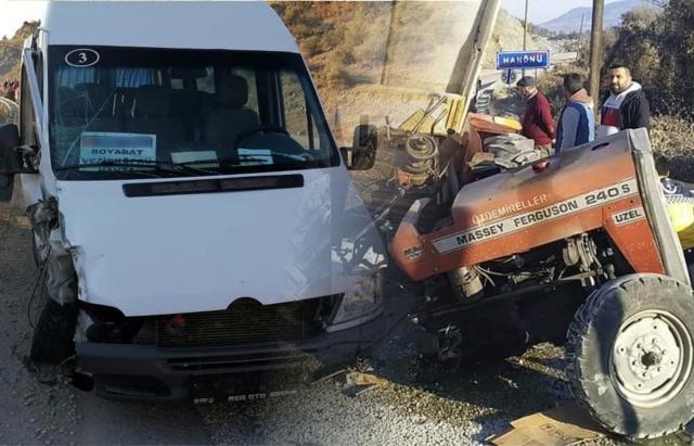Boyabat Hanönü Yolunda trafik kazası.