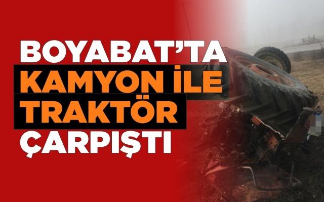 13.01.2020 Pazartesi günü Boyabat'ta meydana gelen trafik kazasında 1 kişi ağır yaralandı.
