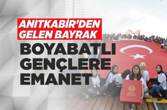 100. Yılında Boyabat Gençliği Ata'nın İzinde  Boyabat Gençliği 19 Mayıs Atatürk'ü Anma ,Gençlik ve Spor Bayramı münasebetiyle Samsun'a gezi düzenlediler.