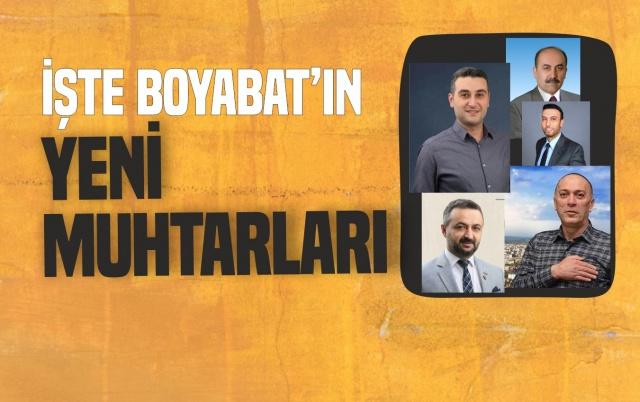 31 Mart Seçimlerinde Belediye Başkanlığı kadar muhtarlık seçimleri de ilgi ile takip edildi.  Boyabat'ta Kazanan Adaylar Şöyle