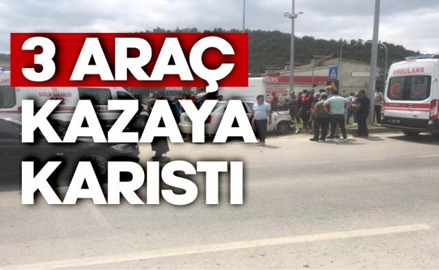 Boyabat Sanayi Kavşağında Trafik Kazası !  16.07.2020 Perşembe günü Boyabat'ta meydana gelen trafik kazasında 1 kişi yaralandı.