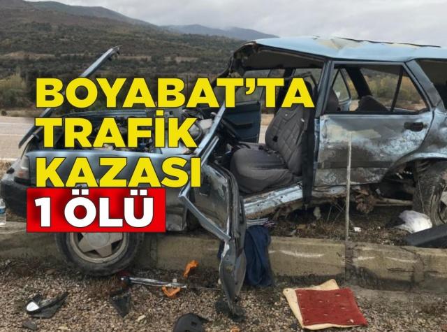 Boyabat'ta Trafik Kazası 1 Ölü  01.11.2019 Cuma günü Boyabat'ta meydana gelen kaza sonucunda 1 kişi hayatını kaybetti.