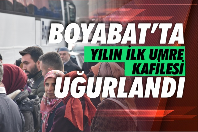 Sinop'un Boyabat ilçesinden Kutsal Topraklara gidecek olan Umre Kafilesi dualarla uğurlandı.