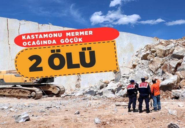 Kastamonu'da mermer ocağında göçük: 2 ölü   Kastamonu'nun Ağlı ilçesindeki mermer ocağında meydana gelen göçükte iki kişi hayatını kaybetti.