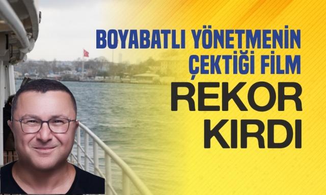 BOYABATLI YÖNETMENİN FİLMİ REKOR KIRIYOR !  Boyabatlı bir akademisyen aynı zamanda film yönetmeni olan Prof.Dr. Mehmet Tığlı'nın kısa filmi ''Bir Vapur Masalı-A Ferry Tale'' bir rekora imza attı.
