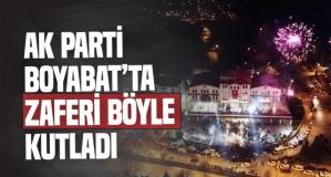 Ak Parti Boyabat'ta Zaferi Böyle Kutladı