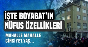 Boyabat'ın Nüfus Özellikleri Belli Oldu !