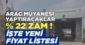 Boyabat'ta yeni araç muayene ücretleri belli oldu