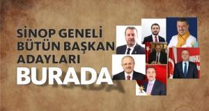 İşte Sinop Geneli Belediye Başkan Adayları
