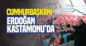 Cumhurbaşkanı Erdoğan Kastamonu'da Coşkuyla Karşılandı