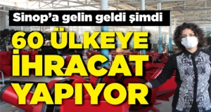 Sinop'a gelin gelen kadının büyük başarısı