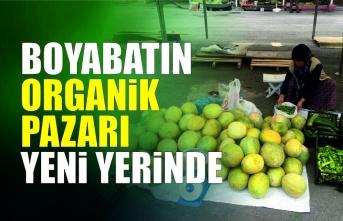 Boyabat'ın organik pazarı yeni yerinde açıldı.