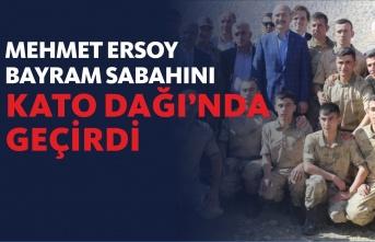 Mehmet Ersoy Bayramını Kahraman Askerlere Ayırdı