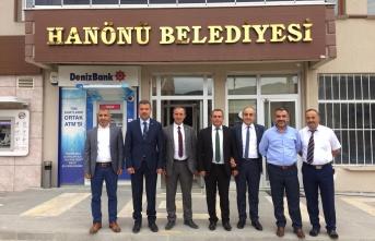 Başkan Çakıcı Hanönü Belediye Başkanı Serkan Uçar'ı Ziyaret Etti