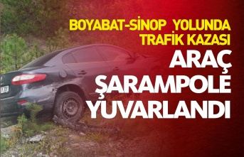 Boyabat-Sinop Yolunda Trafik Kazası