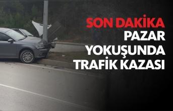 Boyabat Pazar Yokuşunda Trafik Kazası