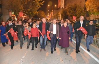 Boyabat'ta 29 Ekim Cumhuriyet Bayramı, DolayısıylaFener Alayı Düzenlendi
