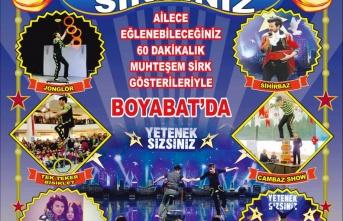 """Boyabat'ta """"YETENEK SİRKİNİZ"""" Gösterisi"""