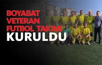 Boyabat'ın Emektarları Veteran Futbol Takımı Kurdu