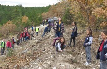 Boyabatlı Minik Öğrenciler Fidanları Toprakla Buluşturdu