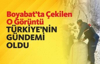 Boyabat'ta Çekilen O Kare Türkiye'nin Gündemi Oldu