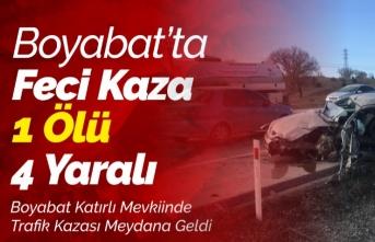 Boyabat'ta Feci Kaza 1 Ölü 4 Yaralı