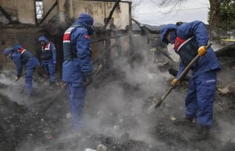 Kastamonu'da yangın, 91 Yaşındaki Yaşlı Kadının Kemik Parçalarına Ulaşıldı