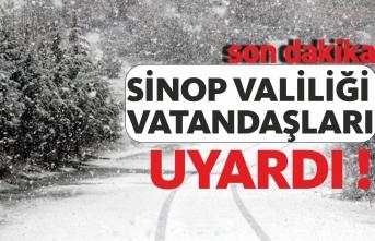 Sinop'un İç Kesimlerine Yoğun Kar Yağışı Geliyor