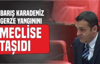 Barış Karadeniz Gerze Yangınını Meclise Taşıdı