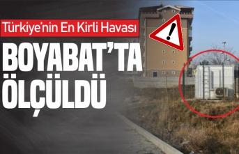 Türkiye'nin en kalitesiz havası Boyabat'ta Ölçüldü