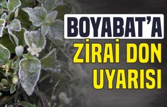 Boyabat'a zirai don uyarısı