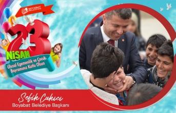 Başkan Çakıcı'dan 23 Nisan Ulusal Egemenlik ve Çocuk Bayramı Kutlama Mesajı