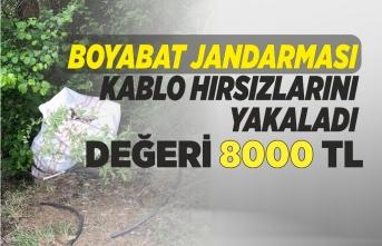 Boyabat'ta Kablo Hırsızları Kıskıvrak Yakalandı