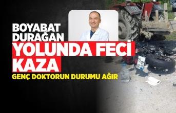 Boyabat Durağan Yolunda Trafik Kazası