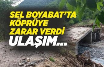 Boyabat'ta Sel Köprüye Zarar Verdi