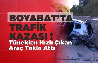Boyabat'ta Trafik Kazası Sinop'tan Dönen Aile Kaza Geçirdi