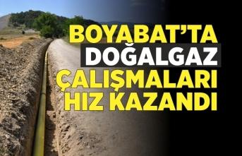 Boyabat'ta doğalgaz çalışmaları devam ediyor