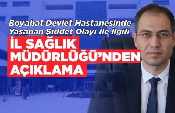 Boyabat'ta ki darp olayı ile ilgili Sinop İl Sağlık Müdürlüğünden Açıklama