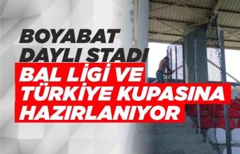 Boyabat Stadı Türkiye Kupası ve BAL Ligine Hazırlanıyor